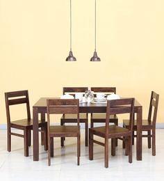 Enkel Six Seater Dining Set In Provincial Teak Finish