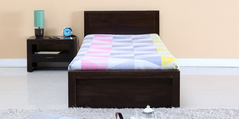 Acropolis Single Bed with Storage in Warm Chestnut Finish by Woodsworth