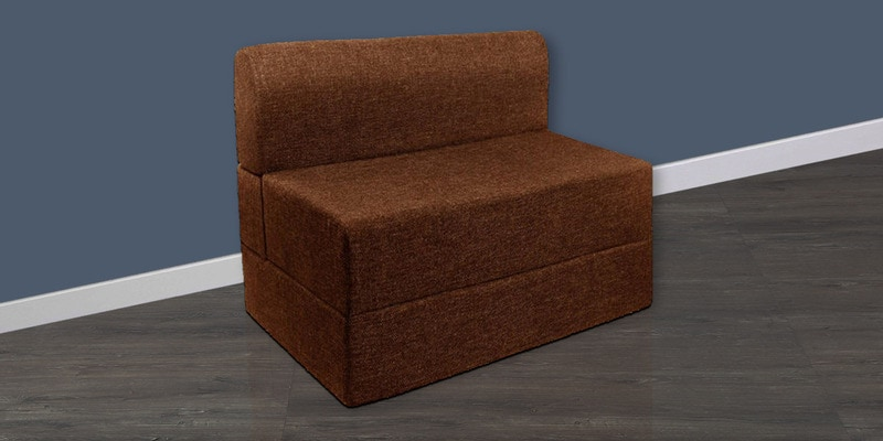 Single Sofa Cum Bed in Brown Colour by Springtek Ortho Coir