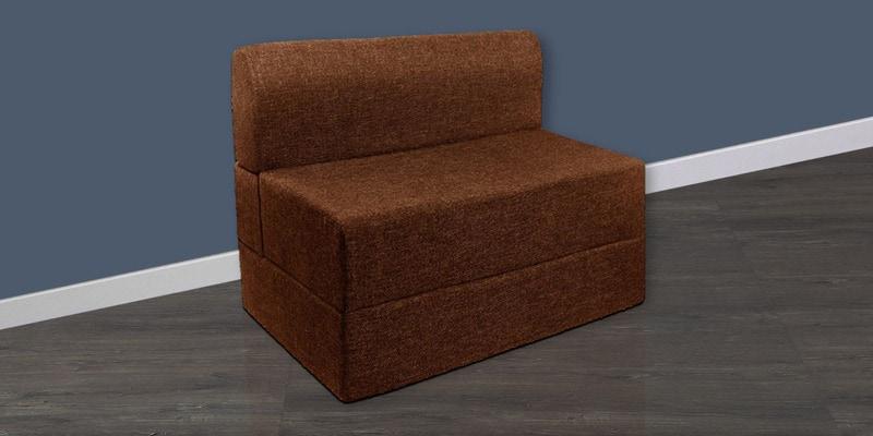 Single Sofa Cum Bed in Brown Colour by Springtek Ortho Coir