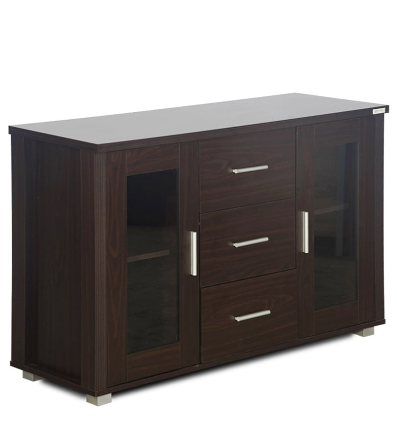 Buy Sideboard Cabinet With Drawer In Walnut Finish By