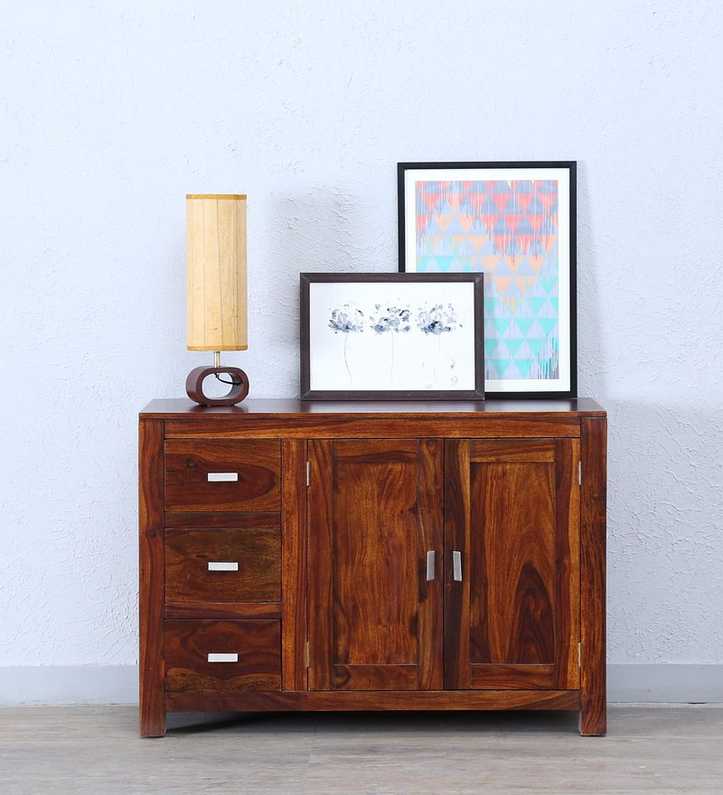 Oriel Two Door Three Drawer Sideboard in Honey oak Finish by Woodsworth