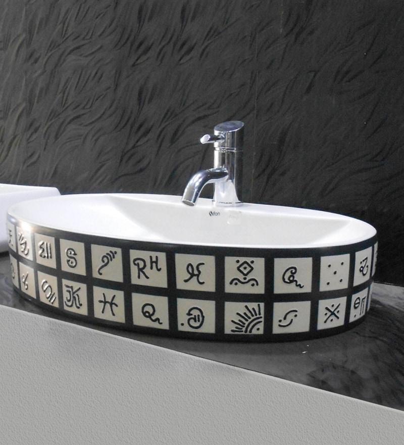 Sifon Sanity White Ceramic Wash Basin