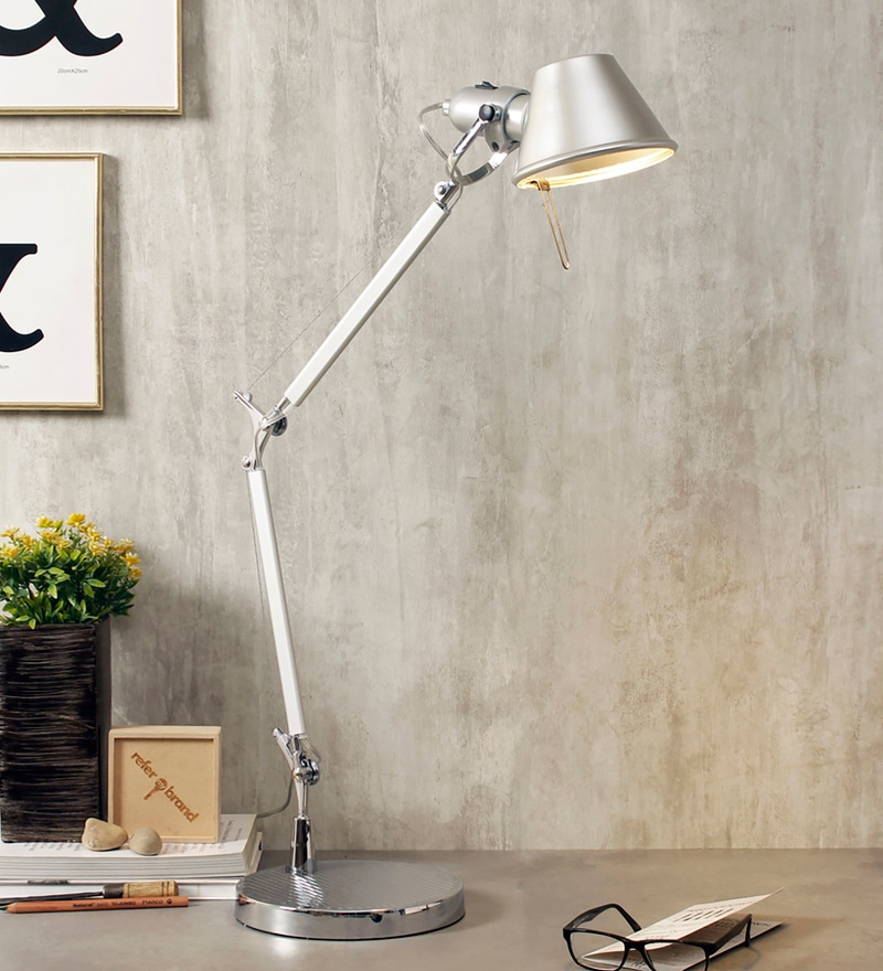 Buy tolomeo modern table lamp by jainsons emporio online study silver metal desk lamps by jainsons emporio aloadofball