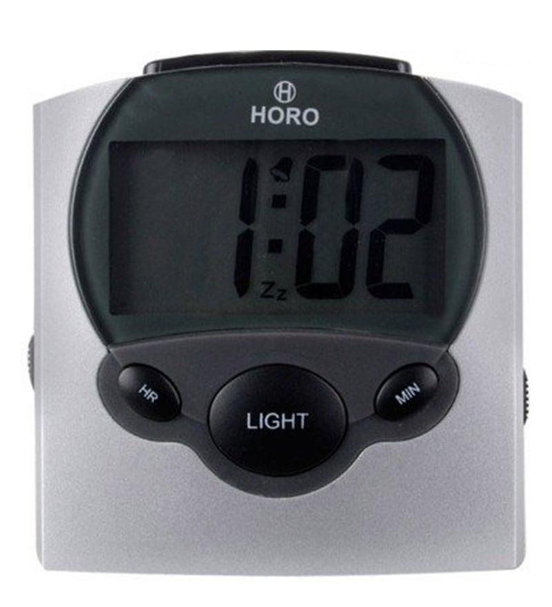 Silver Plastic 3.1 x 3 x 1.2 Inch Alarm Clocks  by Horo