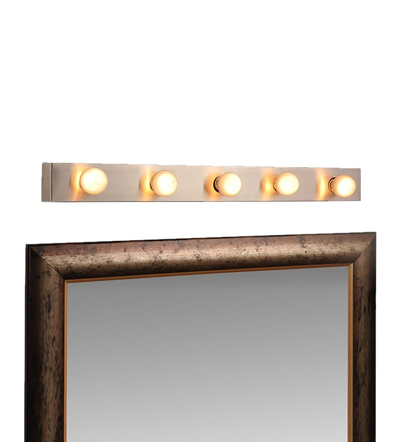 Silver Stainless Steel Mirror Light by Fos Lighting