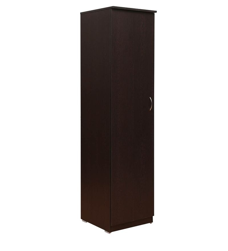 Buy Single Door Wardrobe In Wenge Matte Finish By