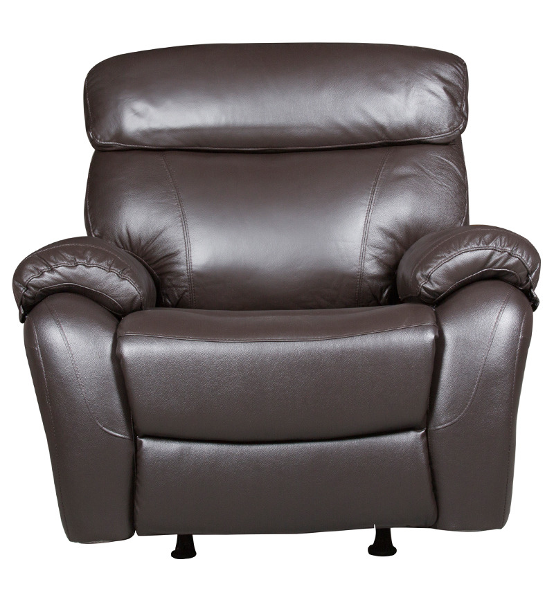 Half Leather Sofa Price Malaysia: Buy One Seater Half Leather Manual Recliner Rocker Sofa In