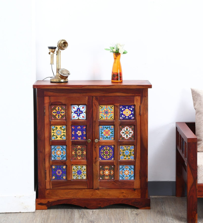 Siramika Cabinet in Honey Oak finish by Mudramark