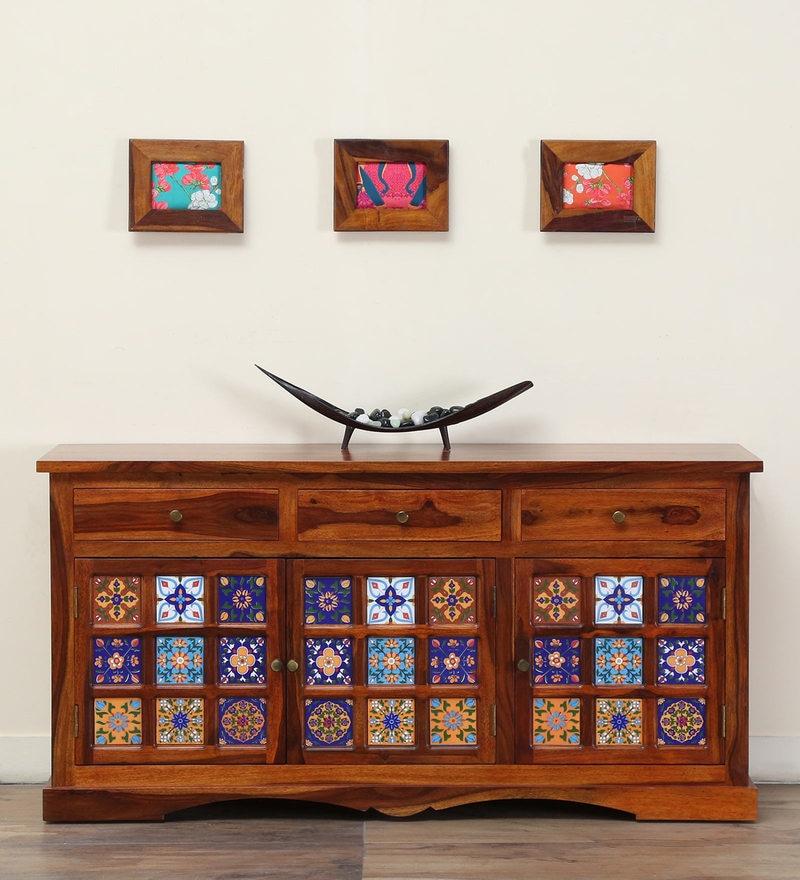 Siramika Sideboard in Honey Oak Finish by Mudramark