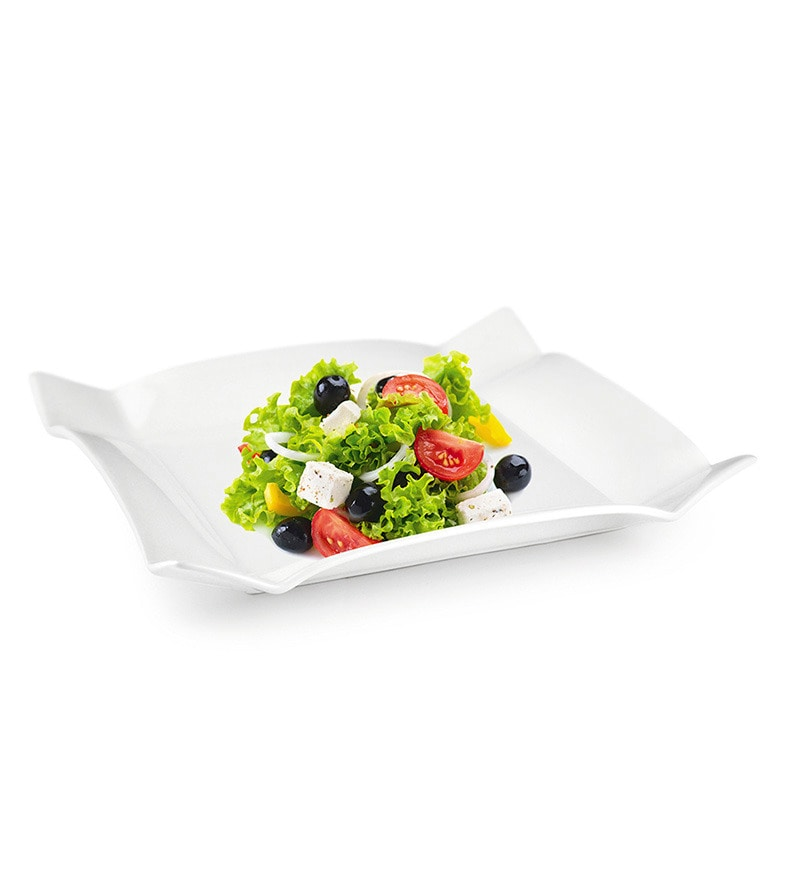 Sivica Durable Porcelain Square Big Platter