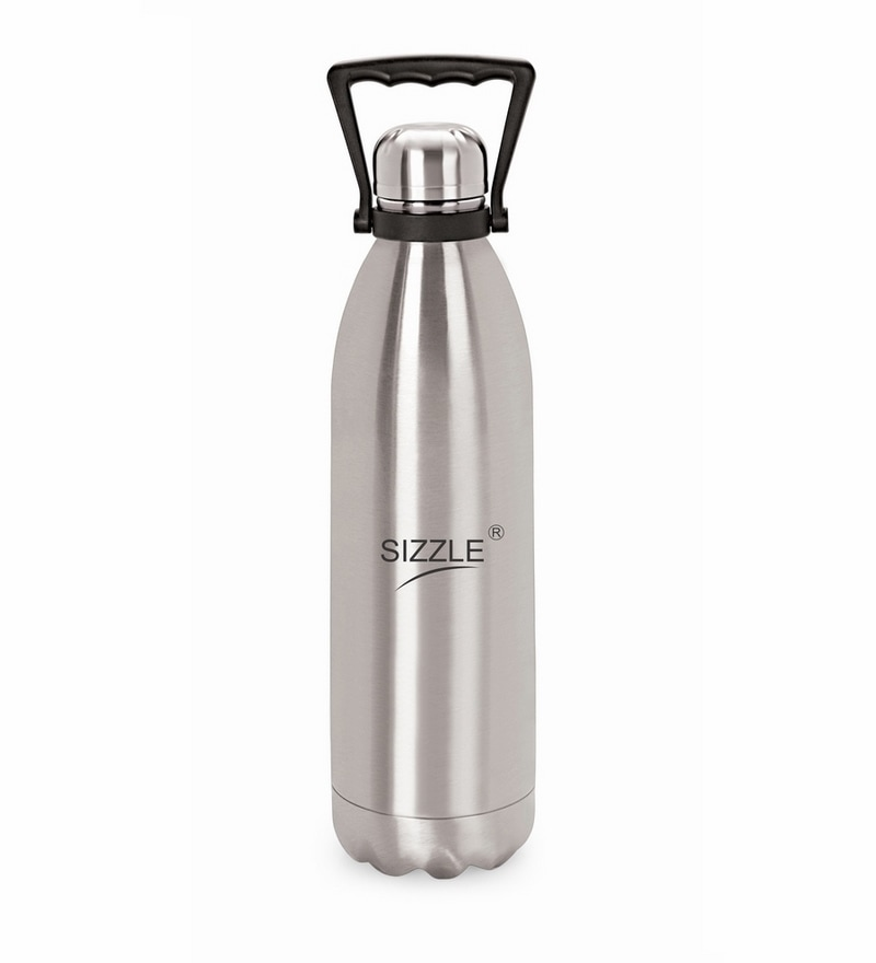 Sizzle Silver Stainless Steel 1000 ML Flask