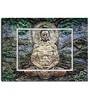 Engineered Wood 27 x 20 Inch Siddhartha to Buddha Framed Art Panel by Hashtag Decor
