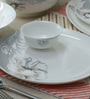 Floral Design Bone China Dinner Set - Set of 35 by Sivica