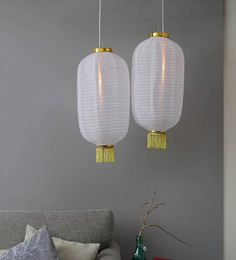 Nylon White Lamp – Set Of Two