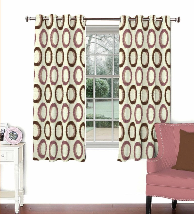 Skipper Multicolour Viscose & Polyester 44 x 60 Inch Eyelet Window Curtain (Model No: 092777)