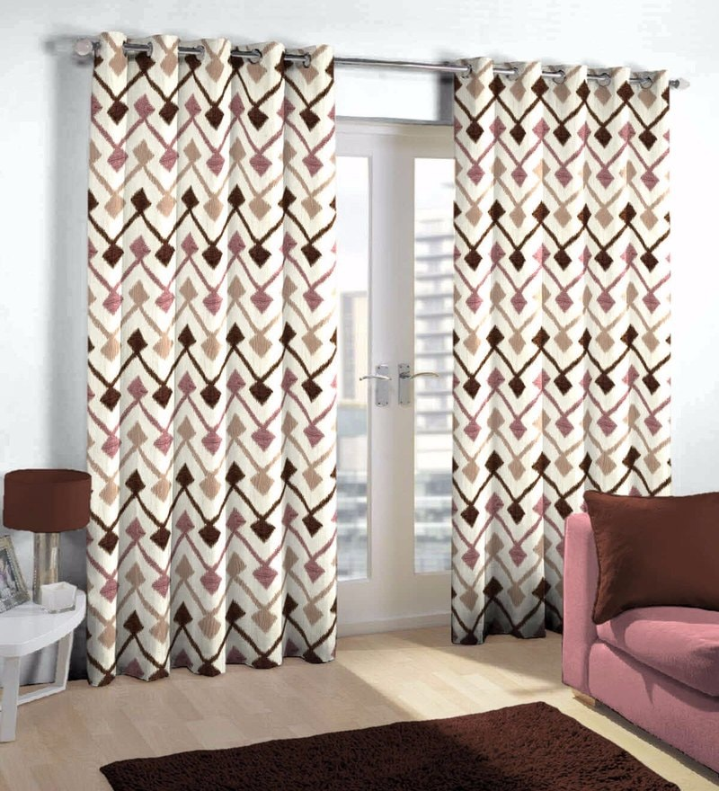 Multicolour Viscose & Polyester Eyelet Door Curtain by Skipper