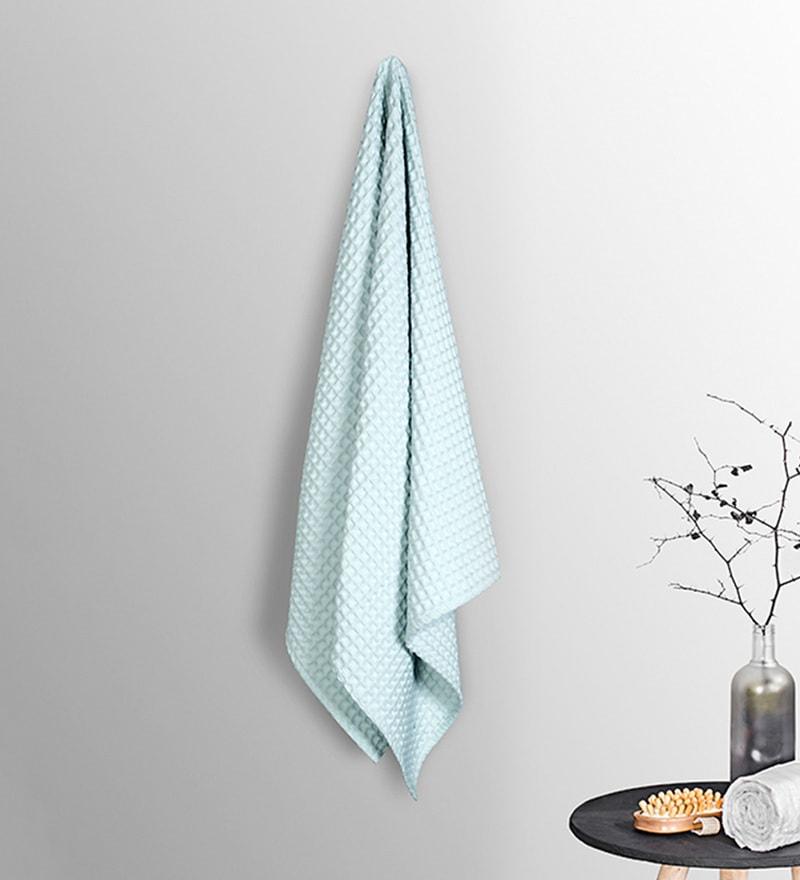 Sky Blue Cotton 30 x 60 Inch Bath Towel by Vista Home Fashion