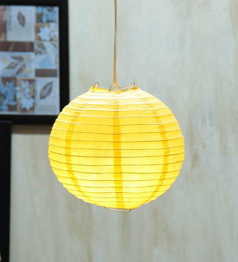 Round Yellow Paper Diwali Lantern by Skycandle