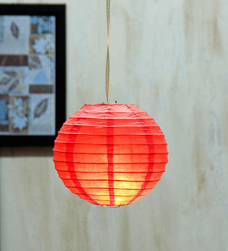 Red Paper Festive Diwali Lantern by Skycandle