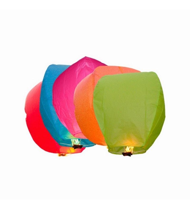 Multicolour Set Of 5 Sky Lantern by Skycandle