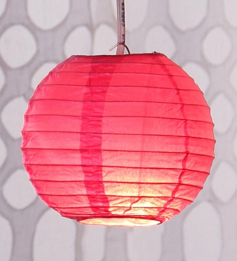 Pink Round Paper Diwali Lantern by Skycandle