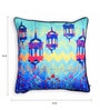 Blue Polyester 16 x 16 Inch Abstract Patterns Turkey Cushion Cover by Skipper