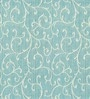 Blue Viscose Floral Window Curtain by Skipper