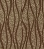 Brown Viscose Abstract Lines Window Curtain by Skipper
