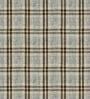 Skipper Green & Blue Viscose Checkered Curtain - Set of 2