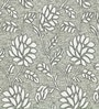 Skipper Grey Viscose Floral Window Curtain