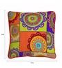 Skipper Multicolour Polyester 12 x 12 Inch Suzani Cushion Cover