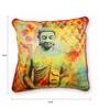 Multicolour Polyester 16 x 16 Inch Buddha Cushion Cover by Skipper