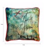 Skipper Multicolour Polyester 16 x 16 Inch Printed Cushion Cover