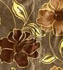 Brown Poly Cotton Floral Window Curtain - Set of 2 by Skipper
