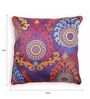 Purple Polyester 16 x 16 Inch Suzani Cushion Cover by Skipper