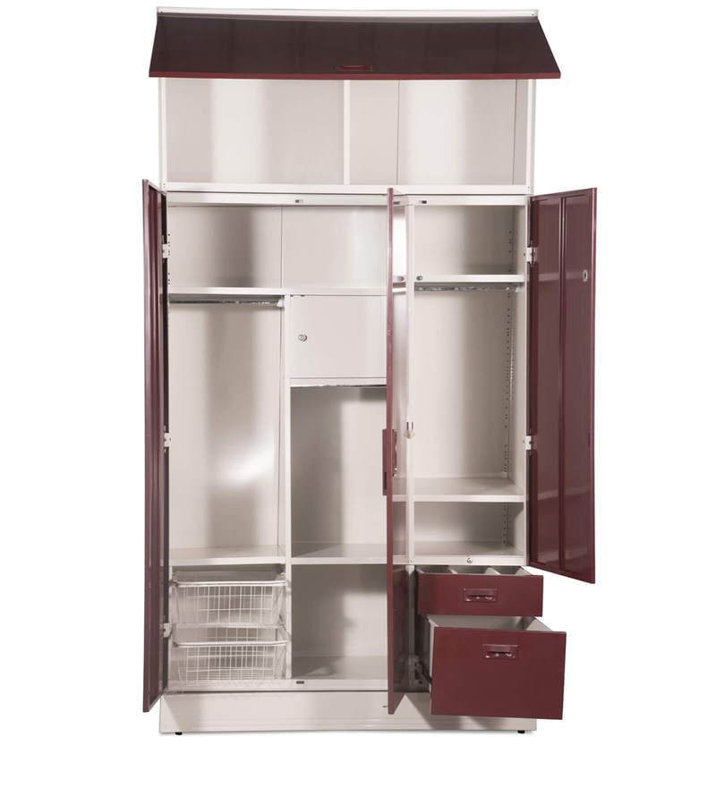Buy Slimline Blend Wardrobe with Wall Mount Storage Unit in Cream ...