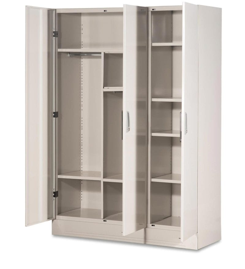 Buy Slimline Three Door Wardrobe With Locker In Royal