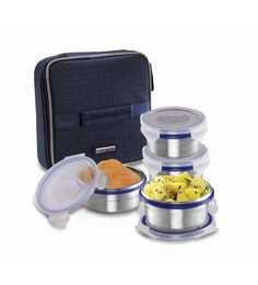 Smart Lock Classic Airtight Tiffin Pack Stainless Steel Lunch  Box - Set Of 4