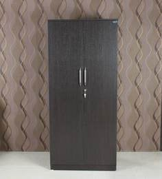 Smart Two Door Wardrobe With Drawer In Wenge Finish By Crystal Furnitech