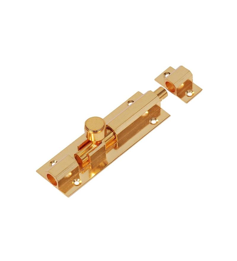 Smart Shophar Hex Brass 8 Inch Tower Bolt