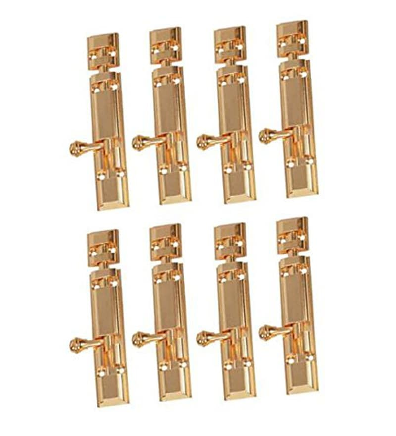 Smartshophar Brass 1.2 x 6.3 x 6 Inch Royal Tower Bolt - Set of 8