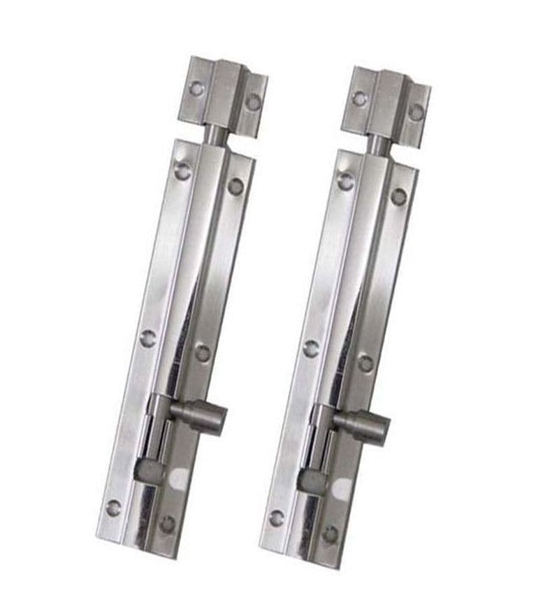 SmartShophar Plain Tower Bolt 2 Pcs Stainless Steel 10 Inches Silver