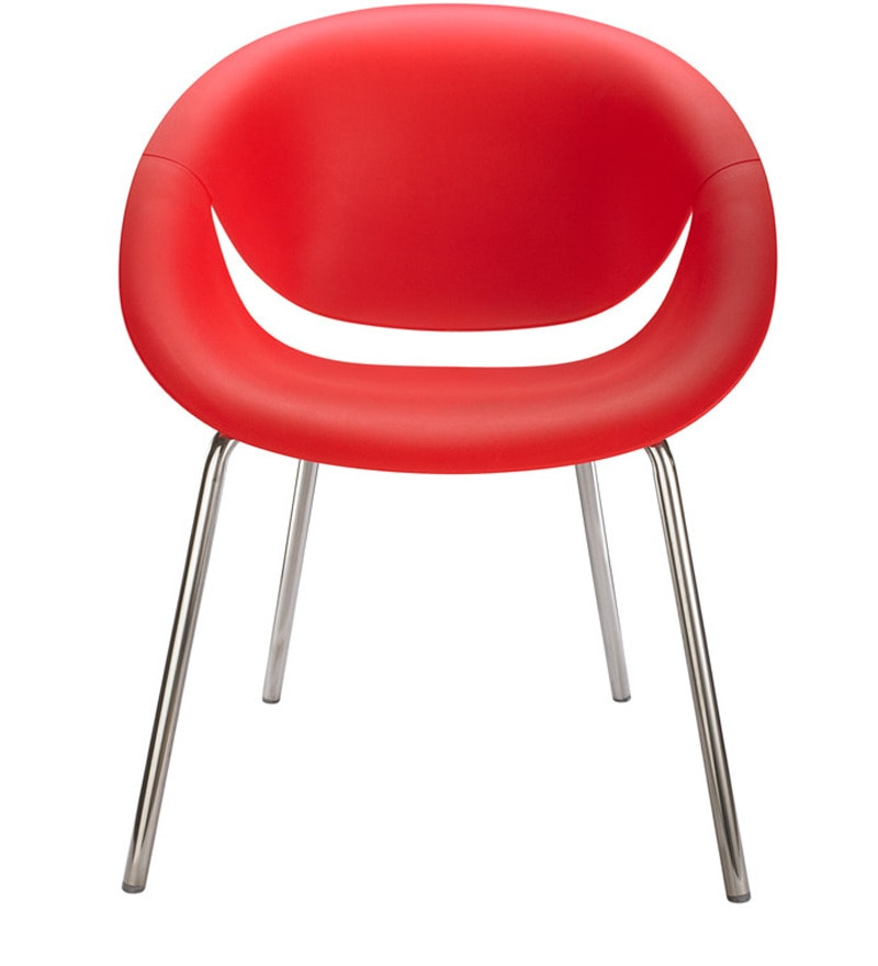 Smile Bright Red Reception Chair by Nilkamal by Nilkamal Online