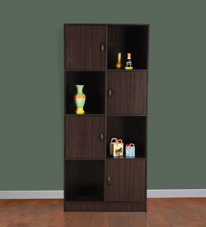 Snap Bookshelf cum Display Unit in Chocolate Colour by Royal Oak