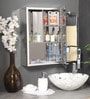 Silver Steel Bathroom Cabinet by SNB