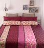 Pink Cotton Queen Size Bed Sheet - Set of 3 by Snuggles