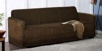 Soft Three Seater Sofa In Brown Colour By Furncoms