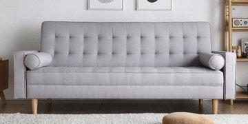 Soul Three Seater Sofa Cum Bed In Beige Colour