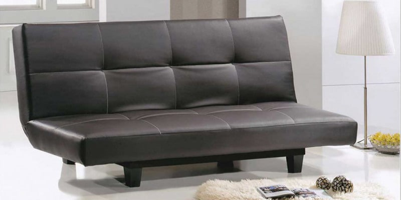 Sofa cum Bed in Brown Leatherette by DHEP Furniture
